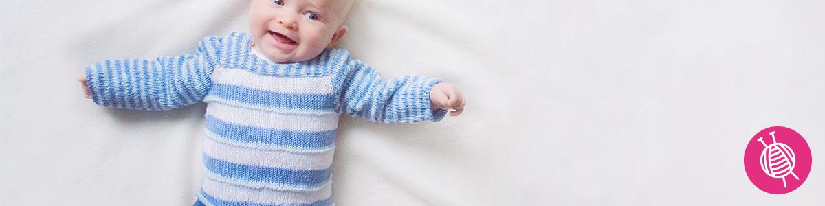 Essentials Cotton Baby Sweater - Free Knitting Pattern