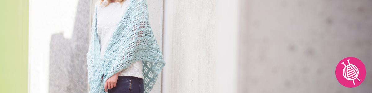 Stylecraft Duck-Egg Wrap - Free Crochet Pattern
