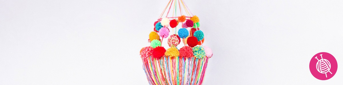 Pompon Chandelier - The best project for using leftover yarns!