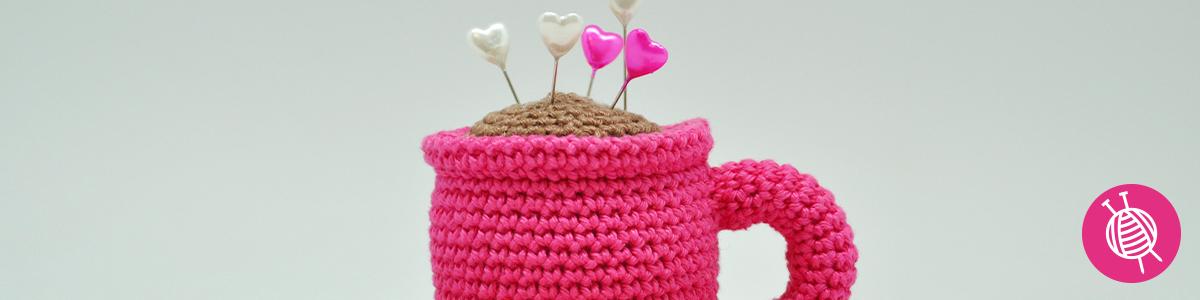 Crochet a coffee cup - Cute free crochet pattern