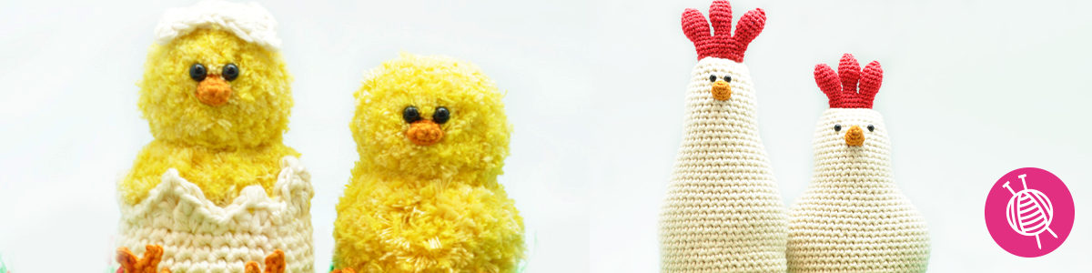 Easter Crochet Projects: A cozy chicken family