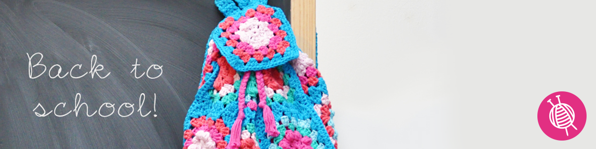 Crocheted Backpack - Back to School!