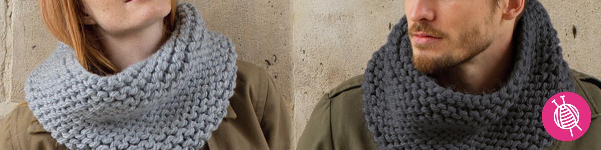 Phil Express Snood Knitting Pattern