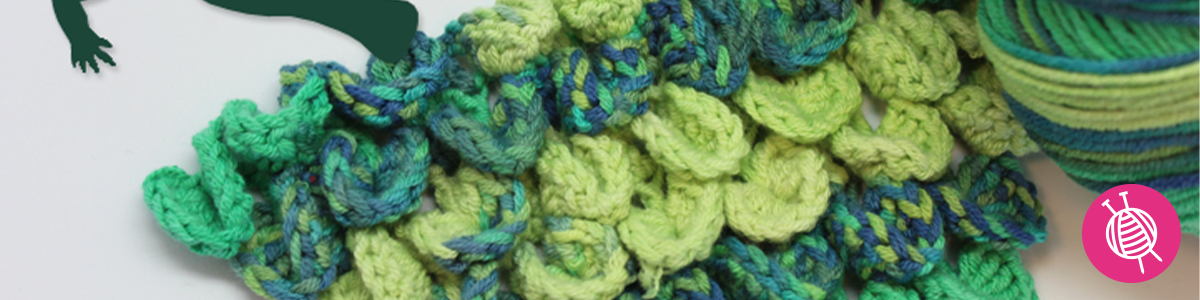 Inspiration: How to crochet a Crocodile Stitch