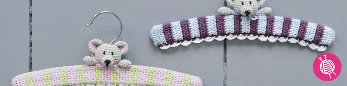 Crochet a clothing hanger