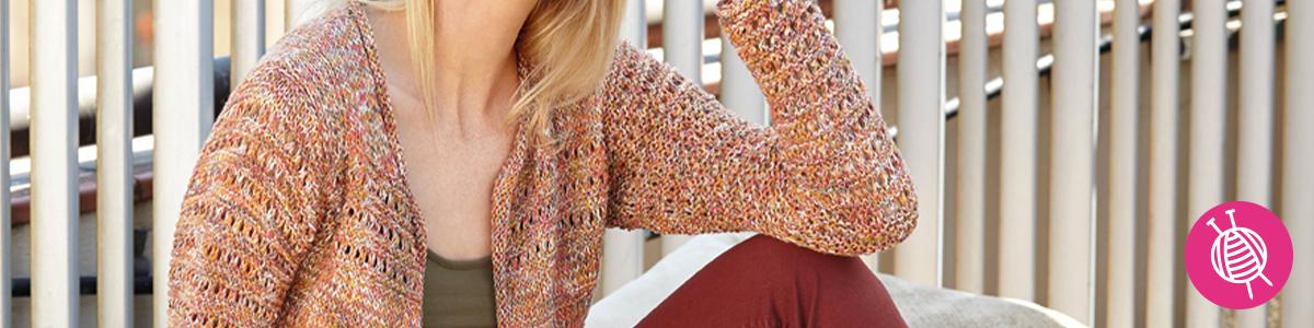 Knit a cardigan of Cotton Vintage