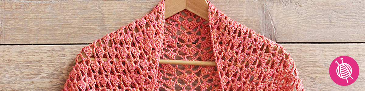 Crochet a silk summer scarf with Knit Collage