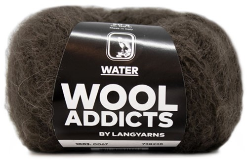 Wooladdicts To-Ease-Sorrow Sweater Knit Kit 10 S Dark Brown