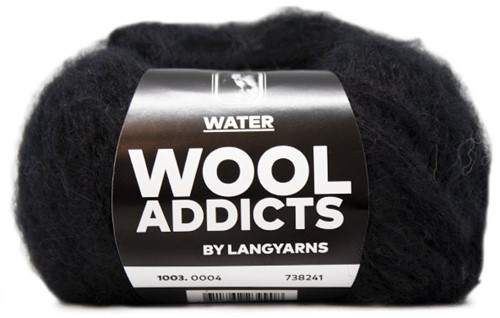 Wooladdicts To-Ease-Sorrow Sweater Knit Kit 2 S Black