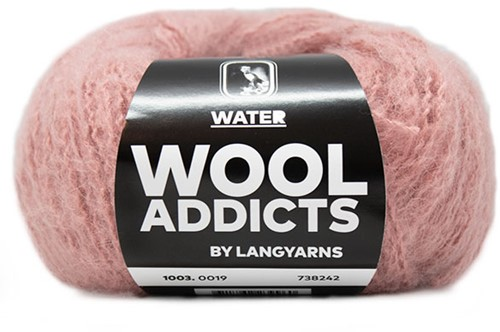Wooladdicts To-Ease-Sorrow Sweater Knit Kit 7 M Pink