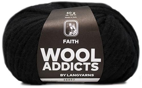 Wooladdicts Wild Wandress Sweater Knit Kit 2 S Black