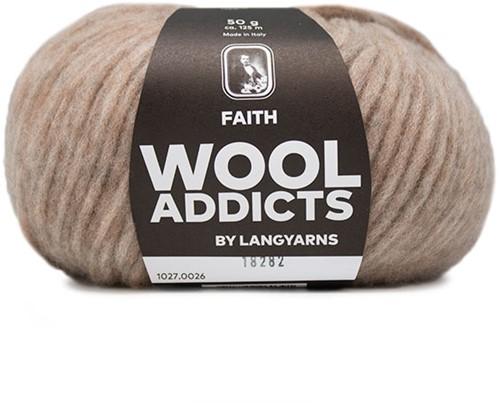 Wooladdicts Wild Wandress Sweater Knit Kit 6 L Beige