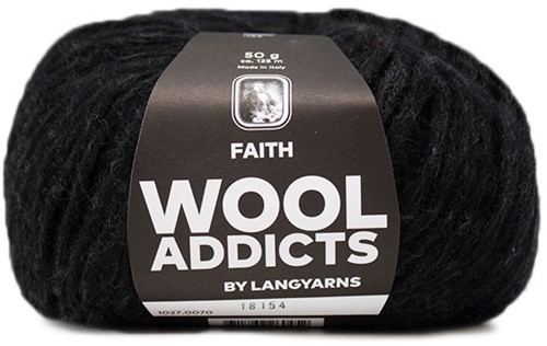 Wooladdicts Wild Wandress Sweater Knit Kit 9 L Anthracite