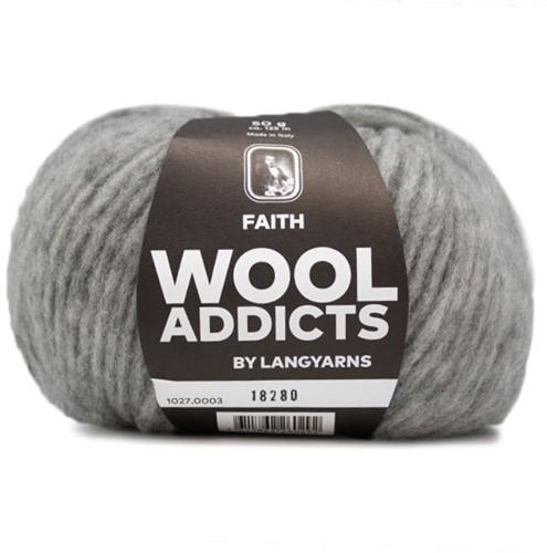 Wooladdicts Boho Soul Hooded Scarf Knit Kit 1 Light Grey Mélange