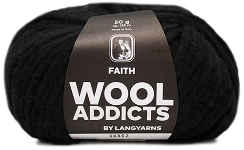 Wooladdicts Boho Soul Hooded Scarf Knit Kit 2 Black