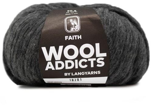 Wooladdicts Boho Soul Hooded Scarf Knit Kit 3 Grey Mélange