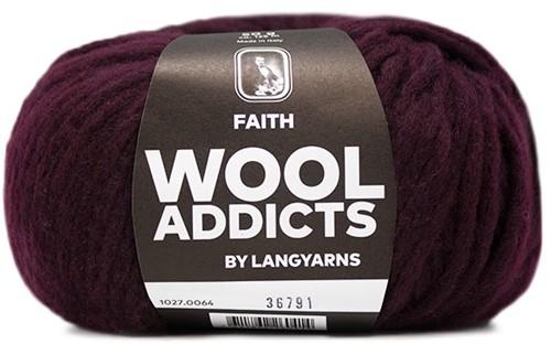 Wooladdicts Boho Soul Hooded Scarf Knit Kit 7 Sunset