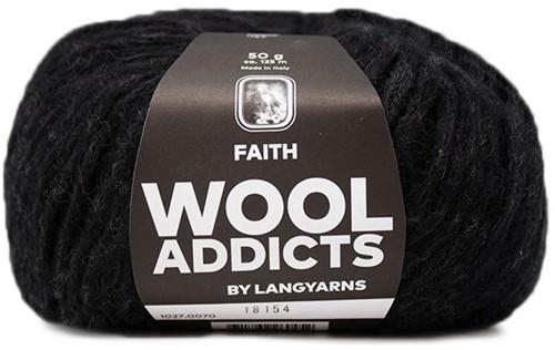 Wooladdicts Boho Soul Hooded Scarf Knit Kit 9 Anthracite