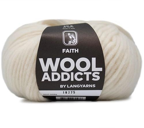 Wooladdicts Unique Mosaic Scarf Crochet Kit 10 Off-White