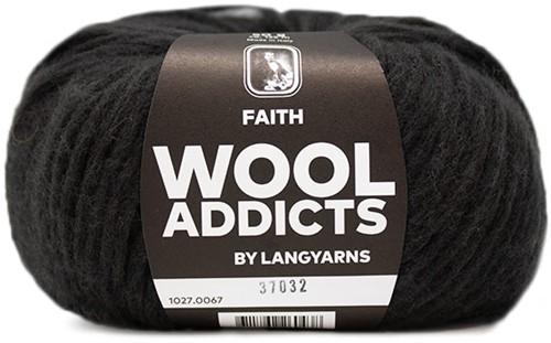 Wooladdicts Unique Mosaic Scarf Crochet Kit 8 Dark Brown