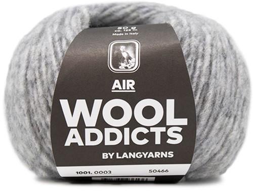 Wooladdicts City Life Sweater Knit Kit 1 M Light Grey Mélange