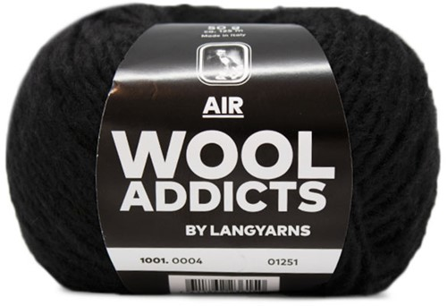 Wooladdicts City Life Sweater Knit Kit 2 L Black
