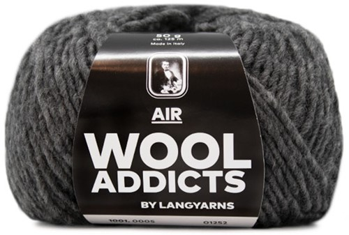 Wooladdicts City Life Sweater Knit Kit 3 L Grey Mélange