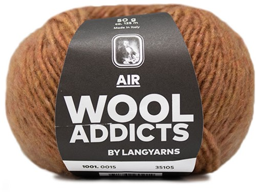 Wooladdicts City Life Sweater Knit Kit 5 L Amber Mélange
