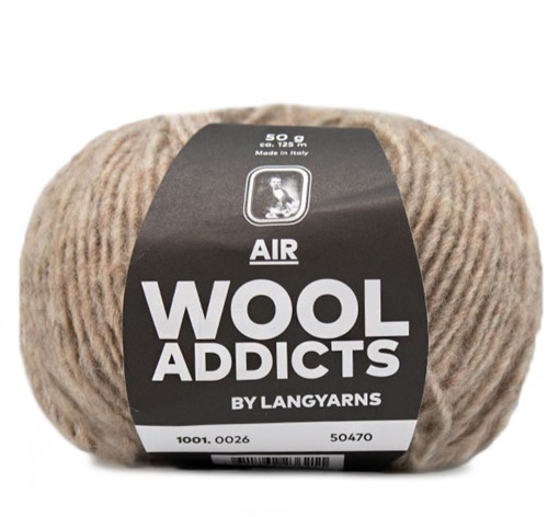 Wooladdicts City Life Sweater Knit Kit 7 L Beige