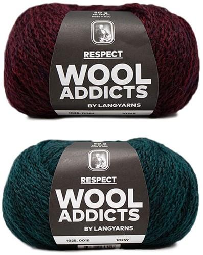 Wooladdicts Hidden Feelings Sweater Knit Kit 1 L Moss Mélange / Sunset