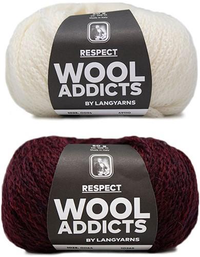 Wooladdicts Hidden Feelings Sweater Knit Kit 3 M Sunset / Off-White