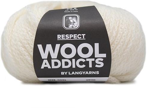 Wooladdicts Seductive Secret Cardigan Knit Kit 10 XL Off-White