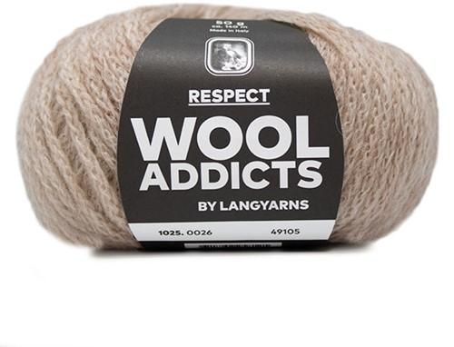 Wooladdicts Seductive Secret Cardigan Knit Kit 6 L Beige