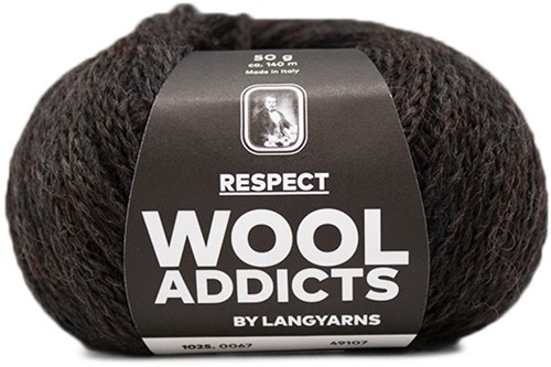 Wooladdicts Seductive Secret Cardigan Knit Kit 8 XL Dark Brown