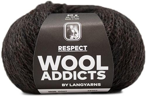 Wooladdicts Seductive Secret Cardigan Knit Kit 8 M Dark Brown