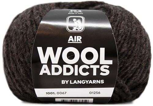 Wooladdicts Dramatic Dreamer Sweater Knit Kit 10 XL Dark Brown