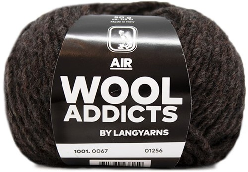 Wooladdicts Dramatic Dreamer Sweater Knit Kit 10 L Dark Brown
