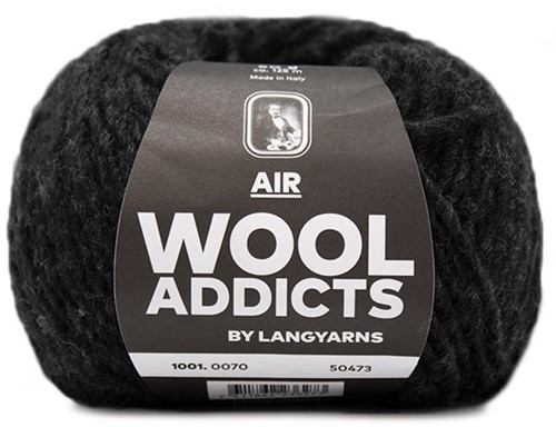 Wooladdicts Dramatic Dreamer Sweater Knit Kit 11 M Anthracite