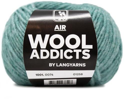 Wooladdicts Dramatic Dreamer Sweater Knit Kit 12 L Atlantic