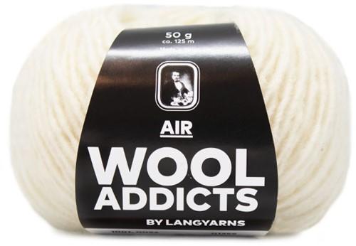 Wooladdicts Dramatic Dreamer Sweater Knit Kit 13 M Off-White