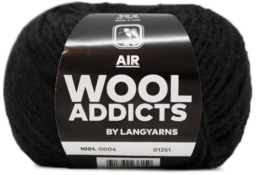 Wooladdicts Dramatic Dreamer Sweater Knit Kit 2 S Black