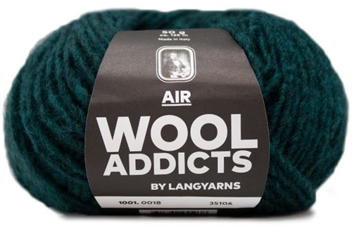 Wooladdicts Dramatic Dreamer Sweater Knit Kit 6 L Moss Mélange