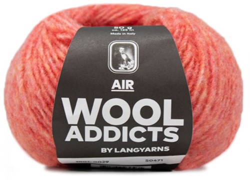 Wooladdicts Dramatic Dreamer Sweater Knit Kit 8 XL Melon