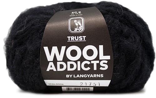 Wooladdicts Devoted Dancer Sweater Knit Kit 2 L/XL Black