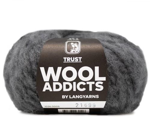 Wooladdicts Devoted Dancer Sweater Knit Kit 3 L/XL Grey Mélange
