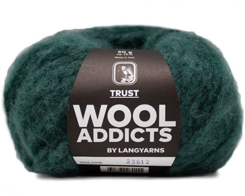 Wooladdicts Devoted Dancer Sweater Knit Kit 5 L/XL Moss Mélange