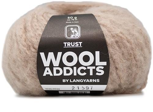 Wooladdicts Devoted Dancer Sweater Knit Kit 6 L/XL Beige