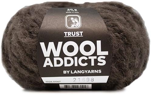 Wooladdicts Devoted Dancer Sweater Knit Kit 8 L/XL Dark Brown