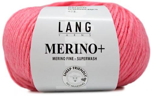 Lang Yarns Merino+ 129 Coral Mélange