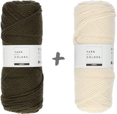 Dream Roll Cushion 4.0 Crochet Kit 12 Khaki & Cream